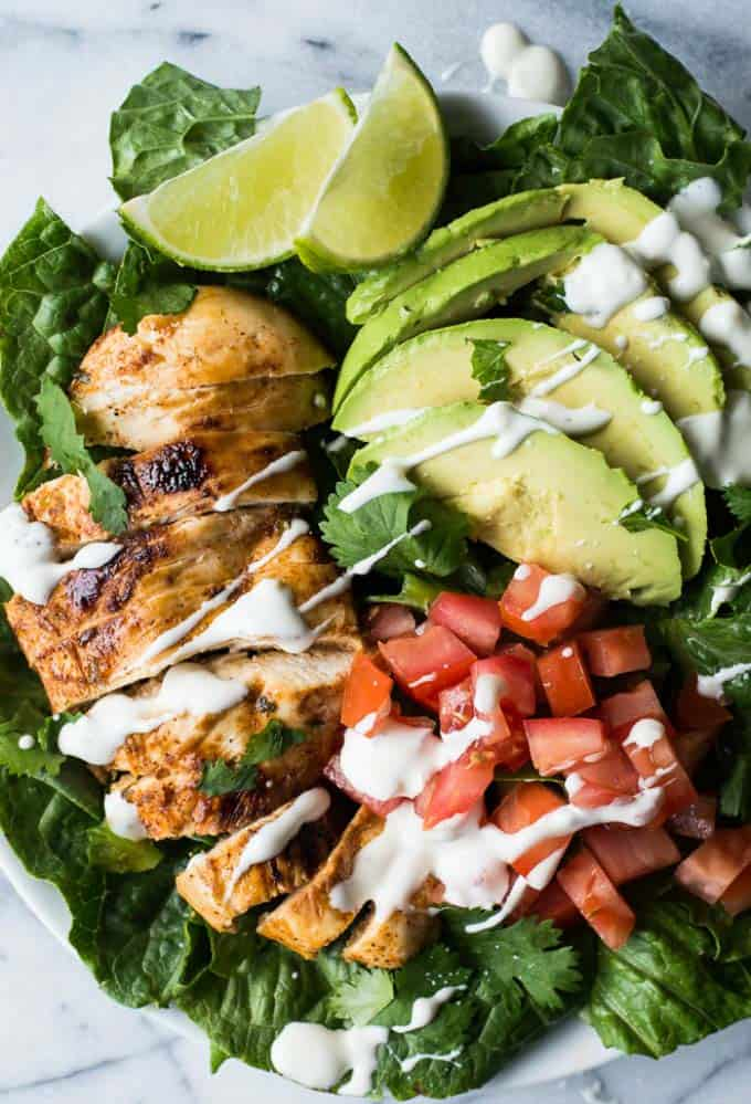 Chili Lime Chicken Salad - quick paleo recipes