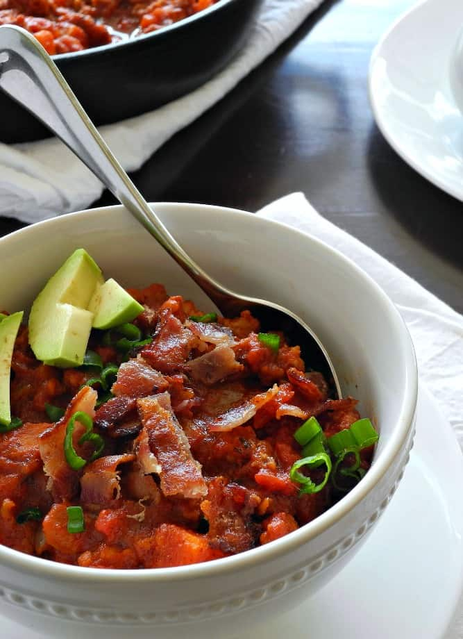Chorizo Sweet Potato Chili - quick paleo recipes