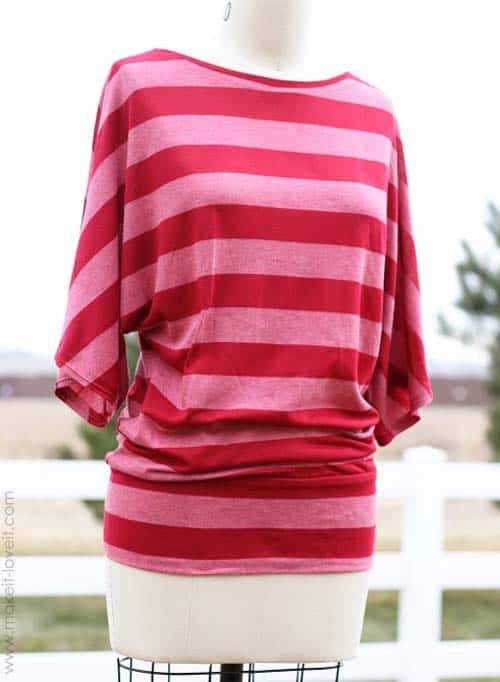 Dolman Style Top - how to sew a shirt