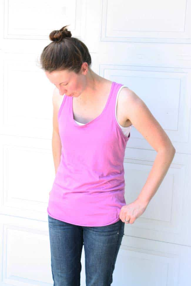 Racerback Tank - how to sew a shirt