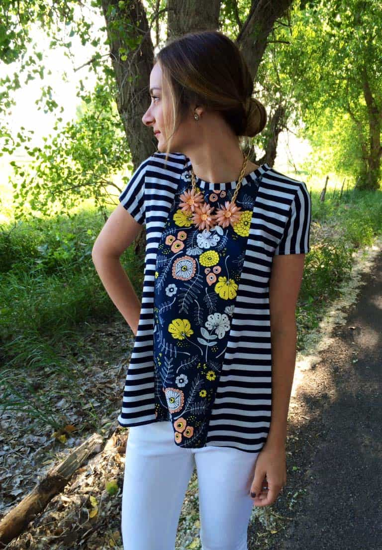 The Sunny Swing Tee - how to sew a shirt