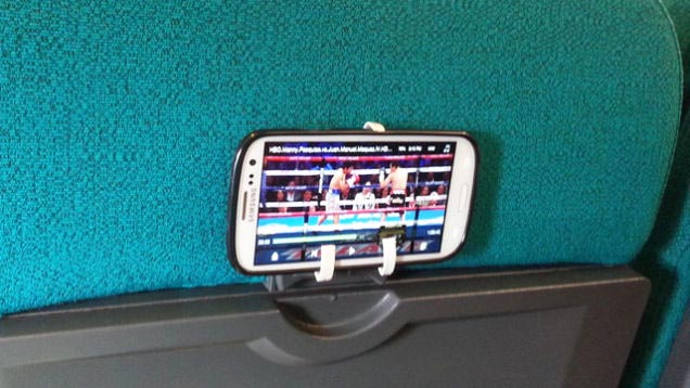 airplane phone mount - easy travel hack