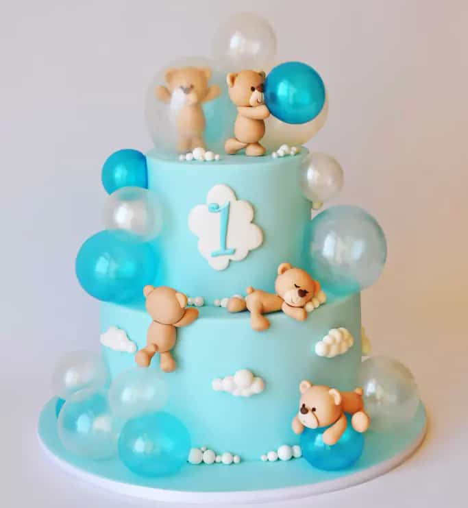 bubble bears cake - kids birthday cake ideas