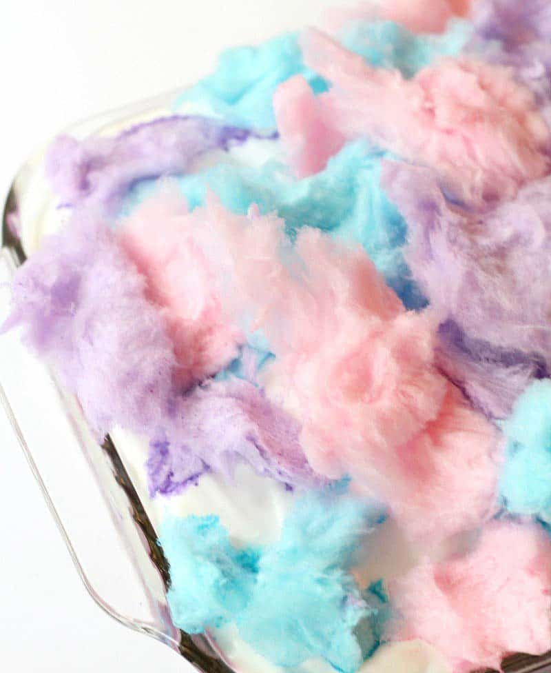 cotton candy poke cake - kids birthday cake ideas