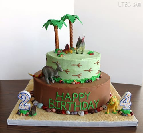 dinosaur cake - kids birthday cake ideas