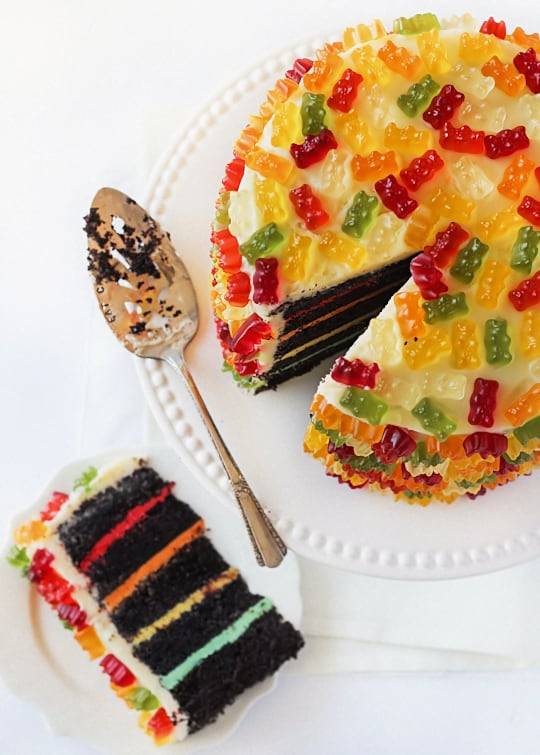 gummy bear layer cake - kids birthday cake ideas