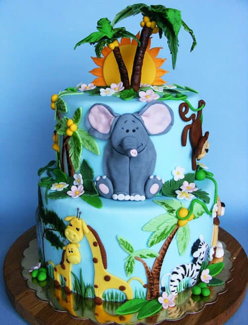 jungle cake - kids birthday cake ideas