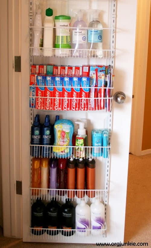 over the door rack - easy storage ideas