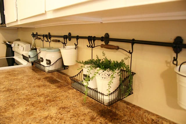 railing system caddy storage