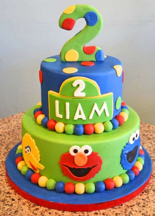 sesame street cake - kids birthday cake ideas
