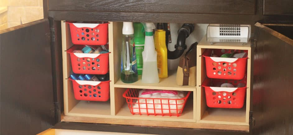 undersink storage - easy storage ideas