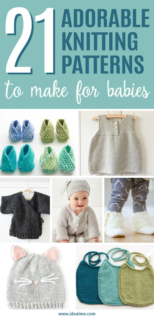 21 Adorable Knitting Patterns For Babies Ideal Me
