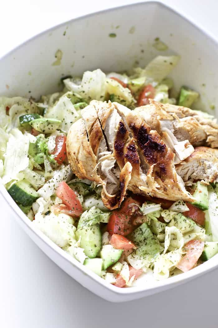 Blackened Chicken and Avocado Salad - gluten free meals