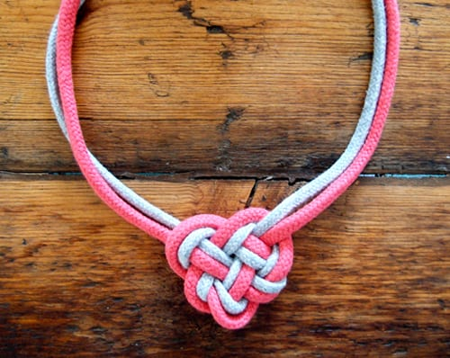 Celtic Heart Knot Necklace - celtic knot