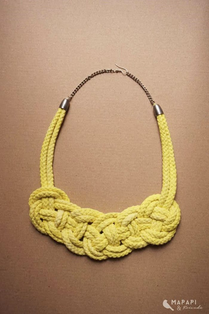 Celtic Knot Rope Necklace - celtic knot