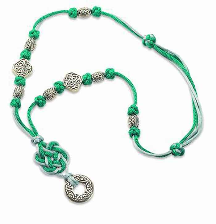Celtic Square Knot Necklace - celtic knot