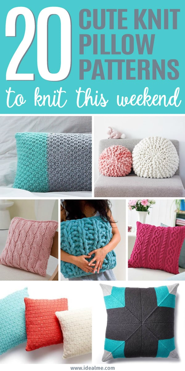 20 Cute Pillow Patterns You Can Knit Up This Weekend - Ideal Me