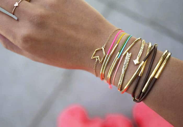 Gold Tube Bracelet - beginner jewelry projects