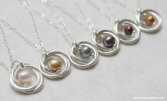 Spiral Pendant Necklace - beginner jewelry projects