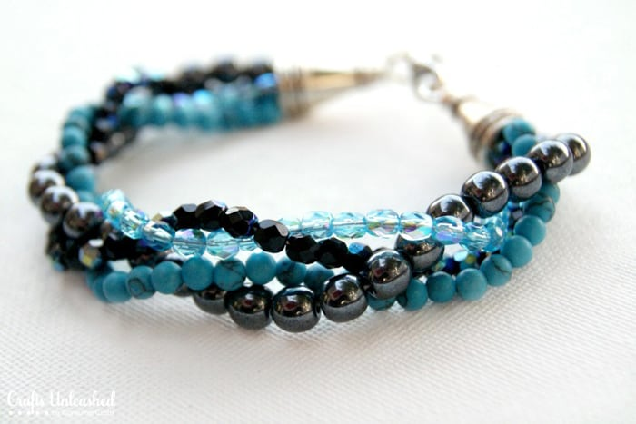 Twisted Bead Strand Bracelet - beginner jewelry projects