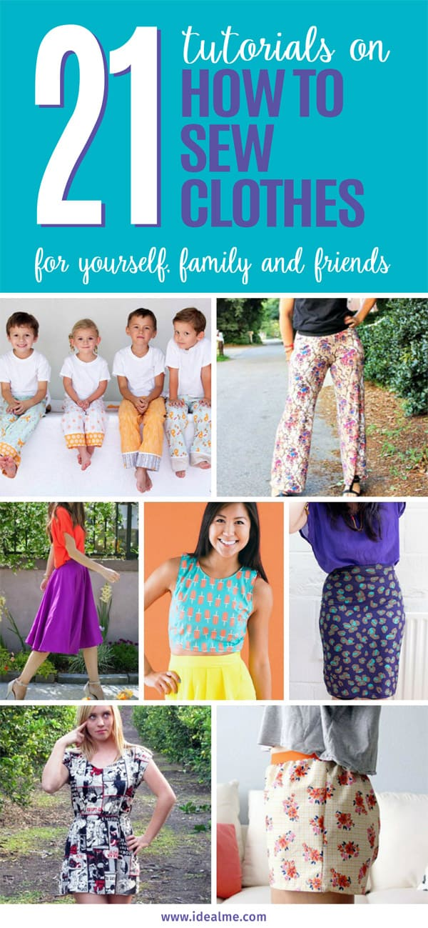 21 how to sew clothes