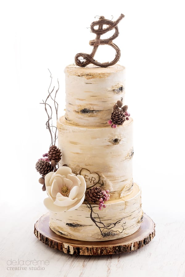 Birch Tree Wedding Cake - wedding cake decorating ideas