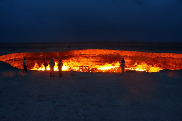 Darvaza Gas Crater, Turkmenistan - unique travel destinations