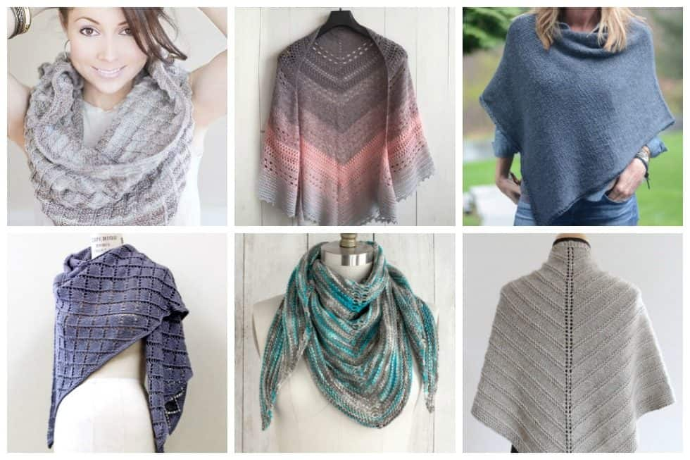 17 Free Shawl and Poncho Knitting Patterns - Ideal Me