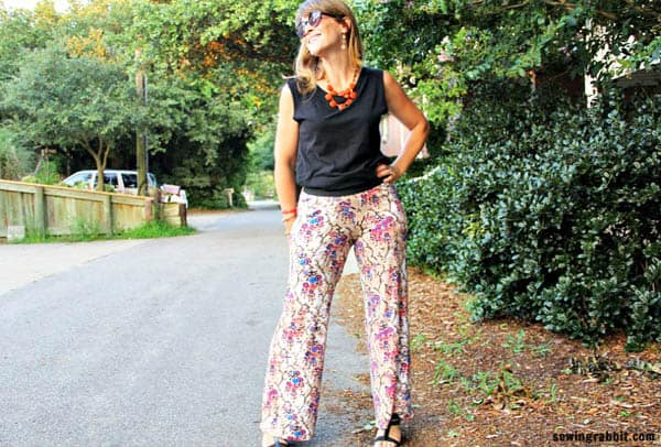 Easy Knit Pants - how to sew clothes