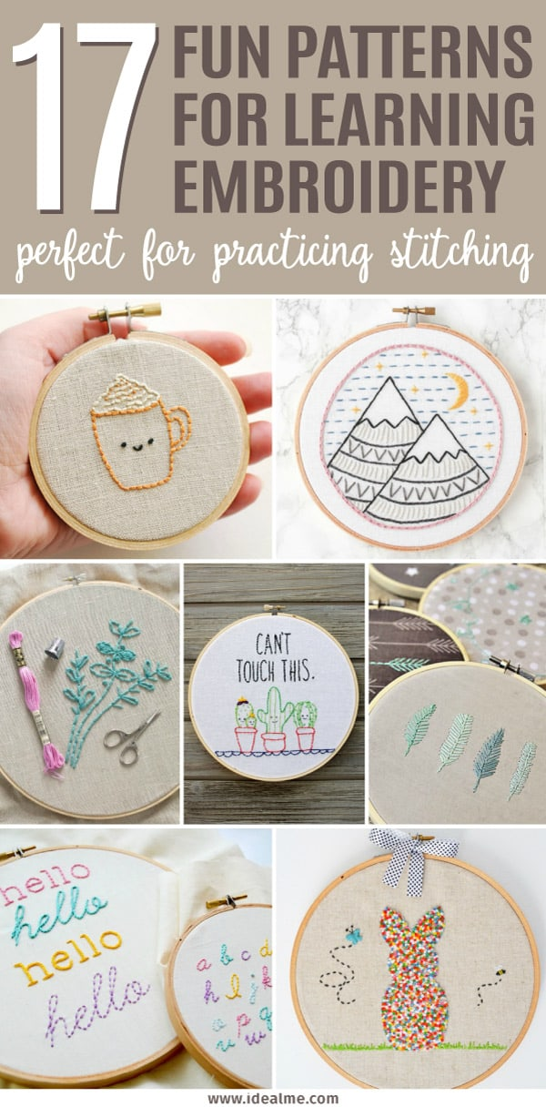 17 Fun Projects That Are A Perfect Way To Learn Embroidery Ideal Me