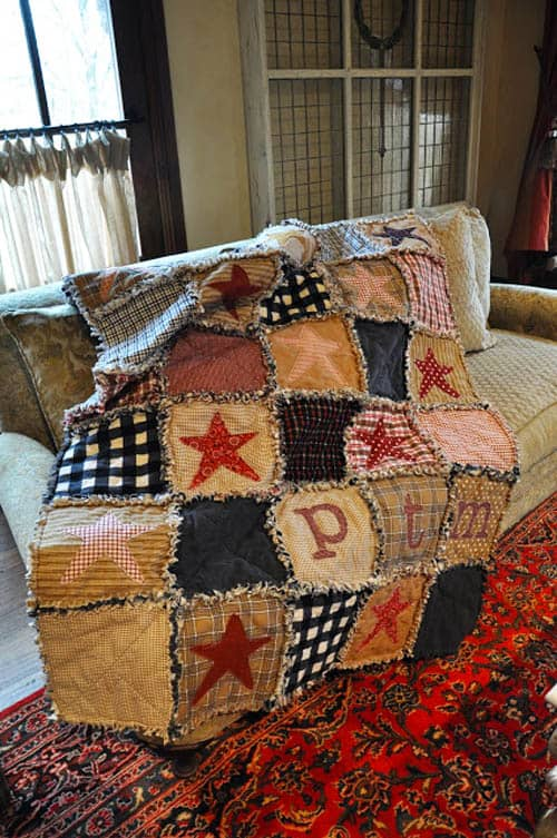 Flannel Rag Quilt - country quilts