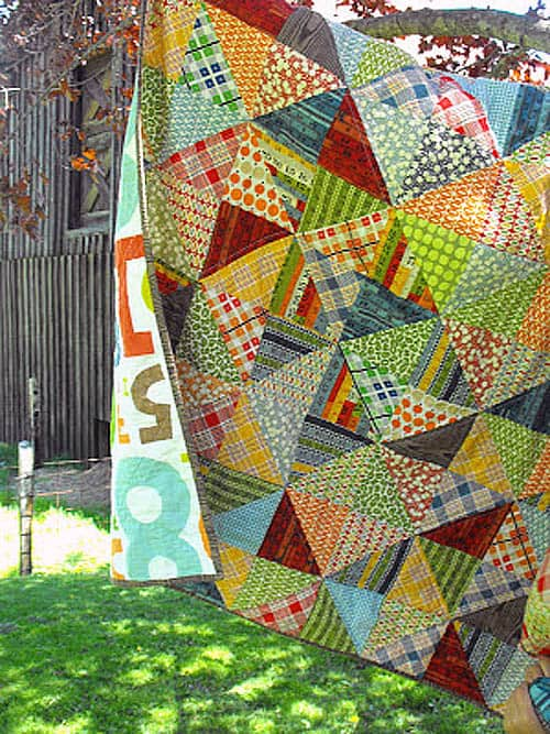 Half Square Triangles - country quilts