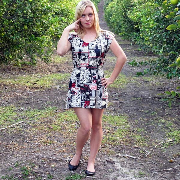 Knit Tunic Dress - how to sew clothes