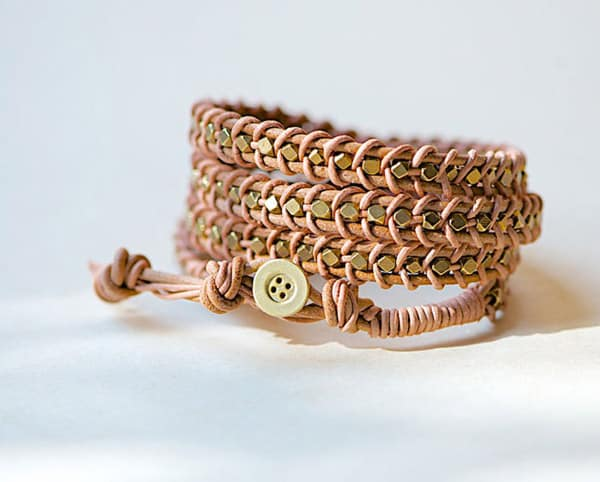 Leather Wrap Bracelet - jewelry ideas