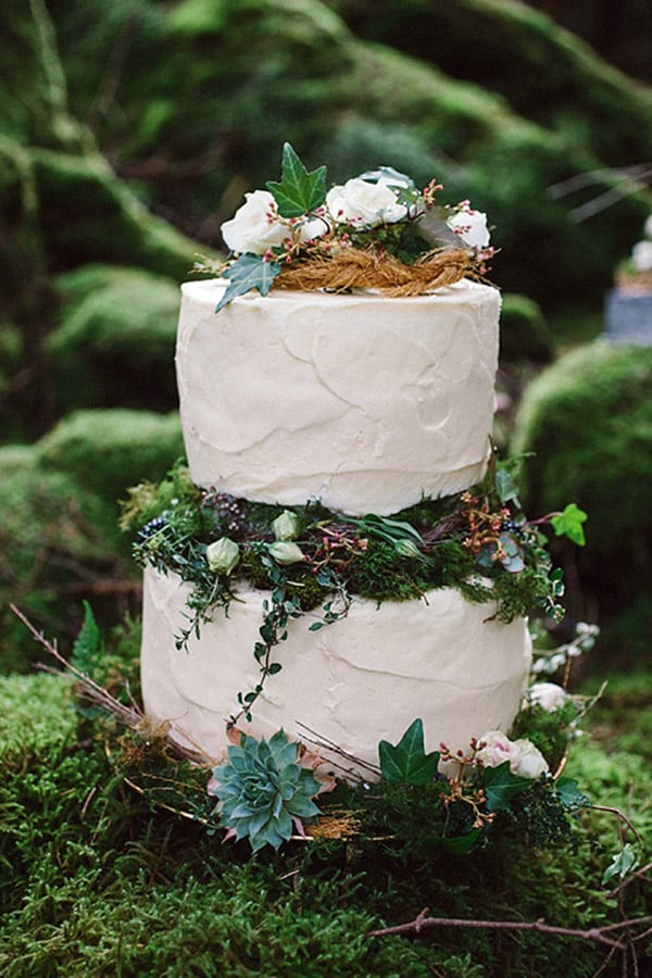 Magical Irish Woodland Wedding Cake - wedding cake decorating ideas