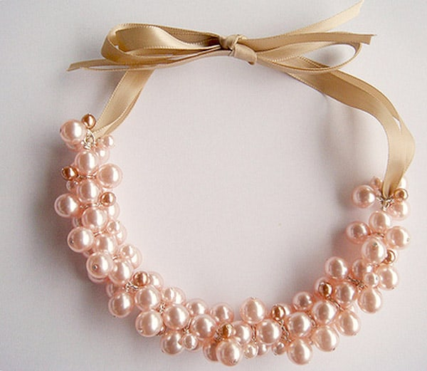 Pearl Cluster Necklace - jewelry ideas