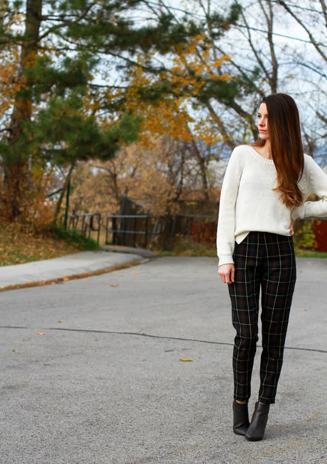 Plaid Trousers - how to sew clothes