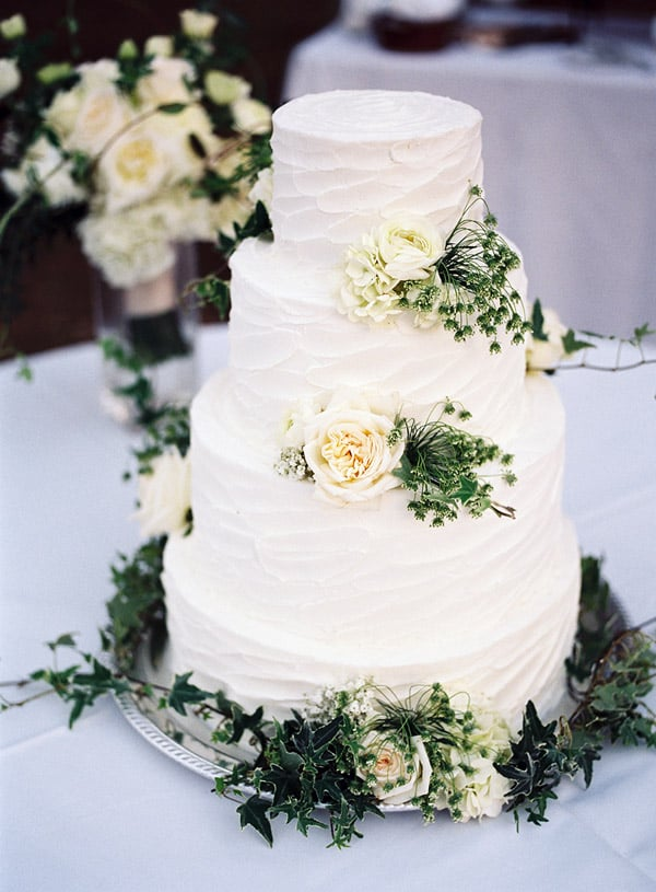 Rustic Spring Wedding Cake - wedding cake decorating ideas