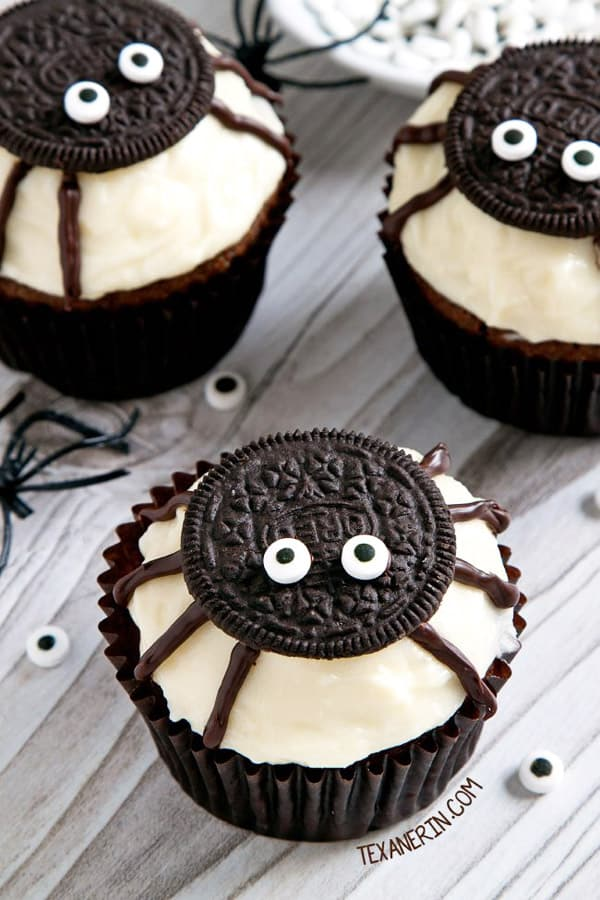 Spider Oreo Cupcakes - cupcake decorating ideas