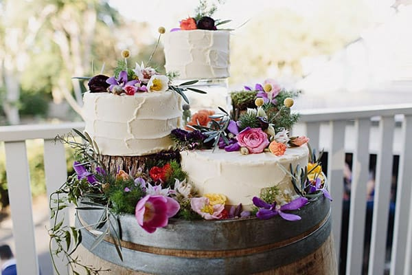 Vibrant Eclectic Wedding Cake - wedding cake decorating ideas