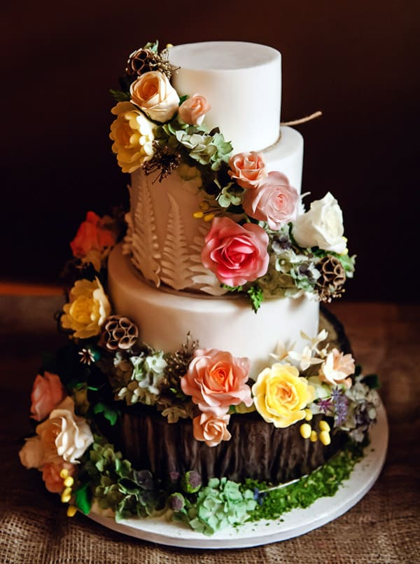Woodland Forest Wedding Cake - wedding cake decorating ideas