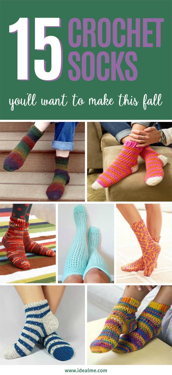 15 crochet socks