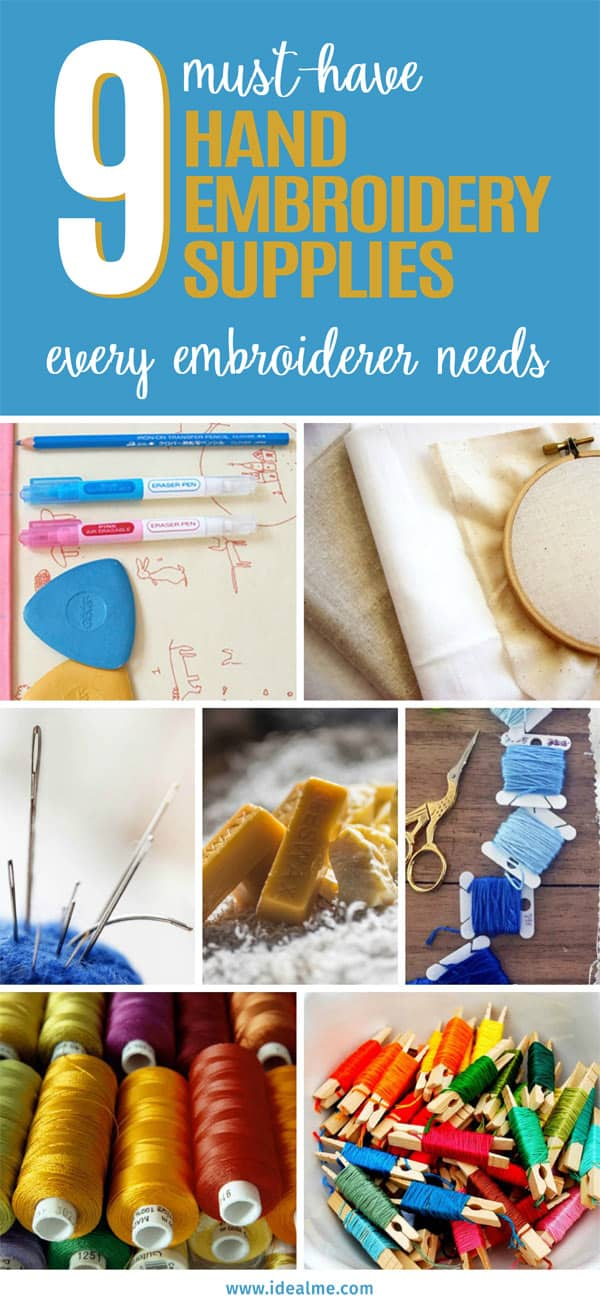 9 hand embroidery supplies