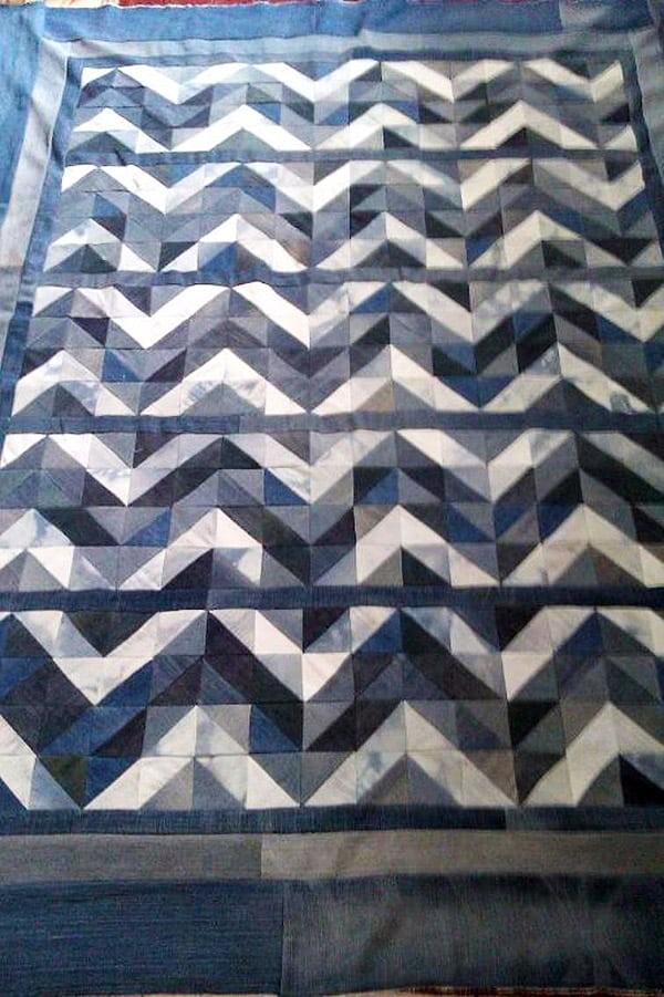photo regarding Free Printable Chevron Quilt Pattern known as 17 Chevron Quilt Practices Ideal for Any Party - Sought after Me