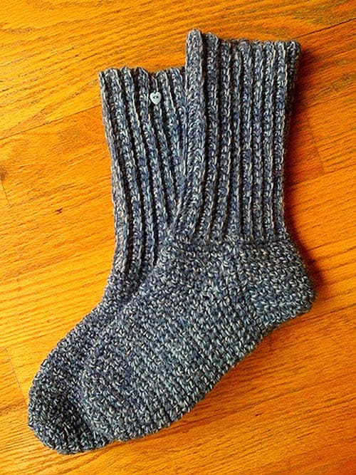Crochet Ribbed Socks