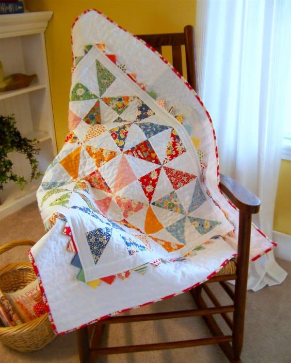 24 Favorite Pinwheel Quilt Patterns For Quilting Enthusiasts - Ideal Me