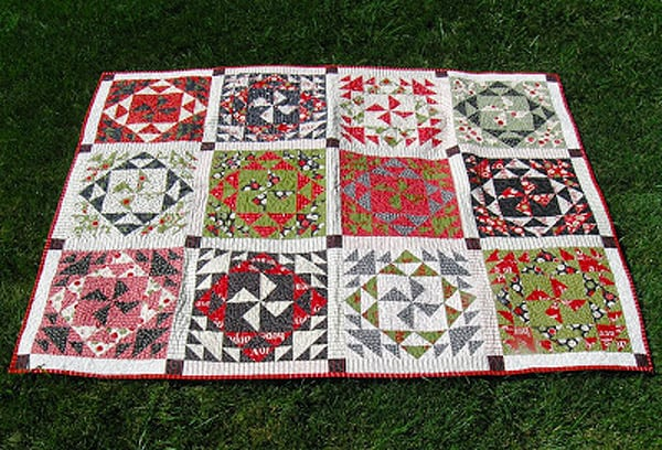 Spinning or Spiraling Quilt - pinwheel quilt patterns