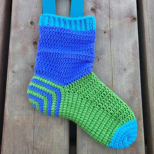 Spiral Crochet Socks