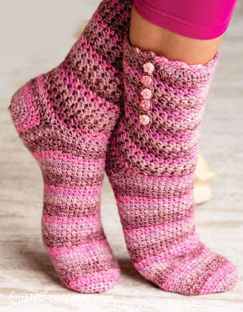 Star Stitch Crochet Socks