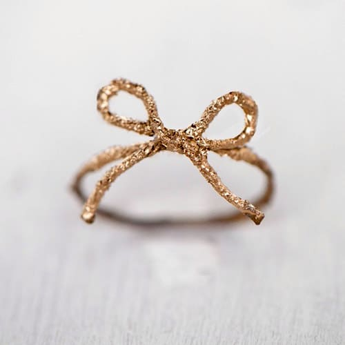Twine Bow Ring - simple diy rings